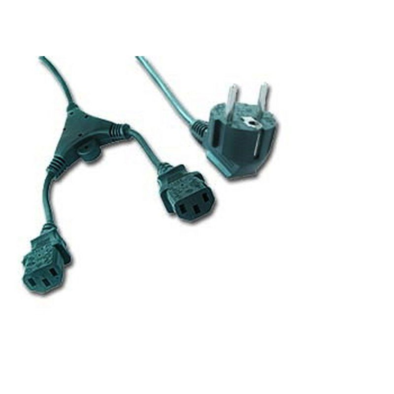 Ver iggual Cable Alimentacion CPU Red Doble C13 VDE 2M