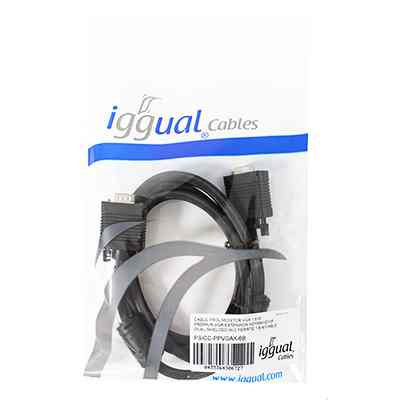 iggual Cable prolongador Monitor VGA 1 8 Metros