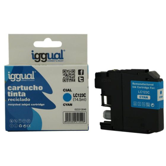 Ver iggual Cartucho Reciclado Brother LC123C Cian