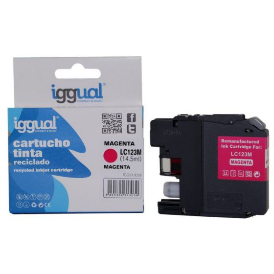 Ver iggual Cartucho Reciclado Brother LC123M Magenta