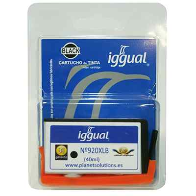Iggual Cartucho Reciclado Negro Hp Cd975a
