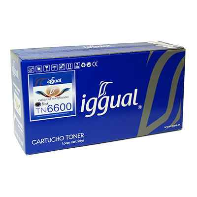 Iggual Toner Reciclado Brother Negro Tn6600