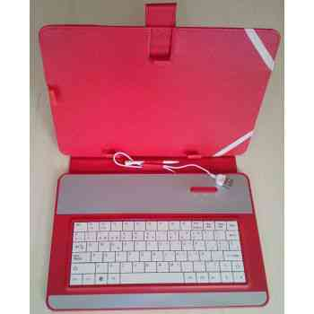 Funda Tablet 10 Con Teclado Usb Roja