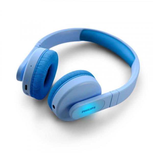 Auricular Philips Diadema Tak4206 Para Ninos Azul Inalam