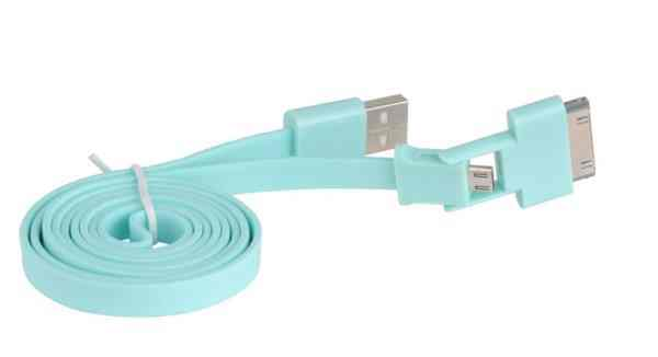 Ver CABLE 3GO USB A MICRO USB Y APPLE 30 PIN PLANO CEL