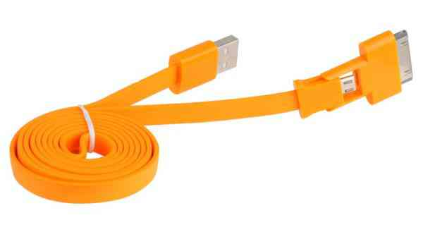 Ver CABLE 3GO USB A MICRO USB Y APPLE 30 PIN PLANO NAR