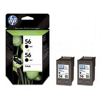 Cartucho Hp 56 C9502a Negro Pack Duo