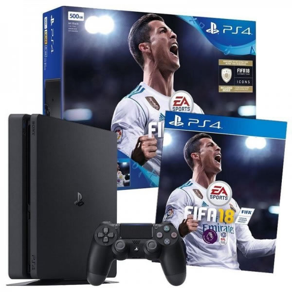 CONS PS4 500GB SLIM FIFA2018 CR7 EDITION MANDO