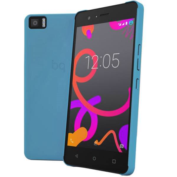 Ver FUNDA BQ AQUARIS M5 BLUE CANDY