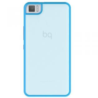 Ver FUNDA BQ AQUARIS M5 5 BLUE GUMMY