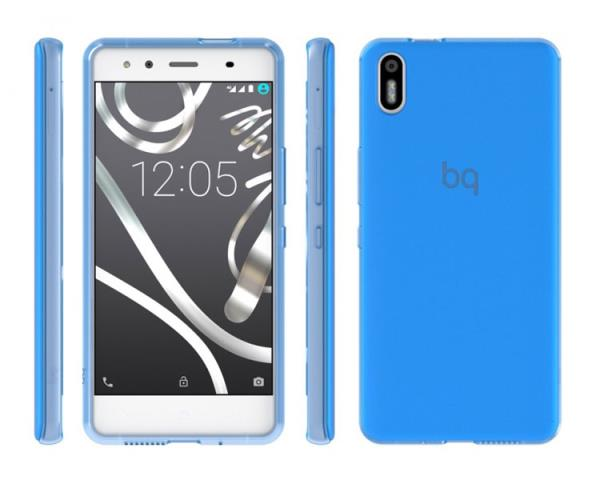 Ver FUNDA BQ AQUARIS X5 BLUE GUMMY