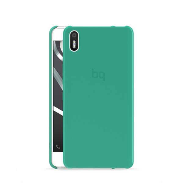 Ver FUNDA BQ AQUARIS X5 GREEN CANDY