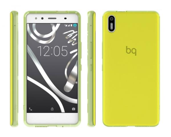 Ver FUNDA BQ AQUARIS X5 GREEN GUMMY