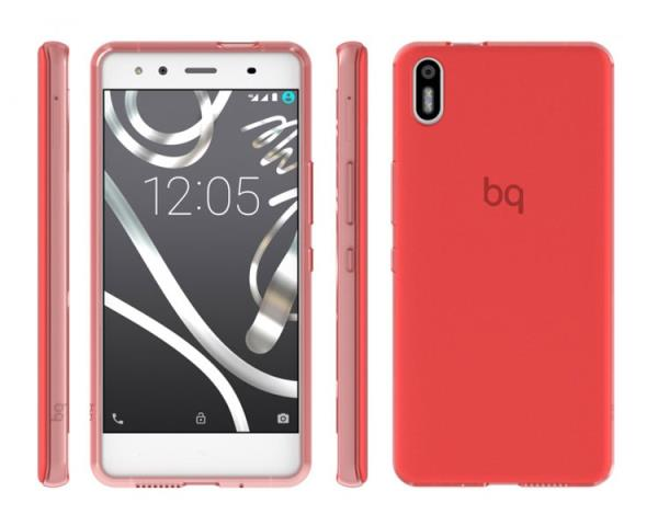 Ver FUNDA BQ AQUARIS X5 RED GUMMY