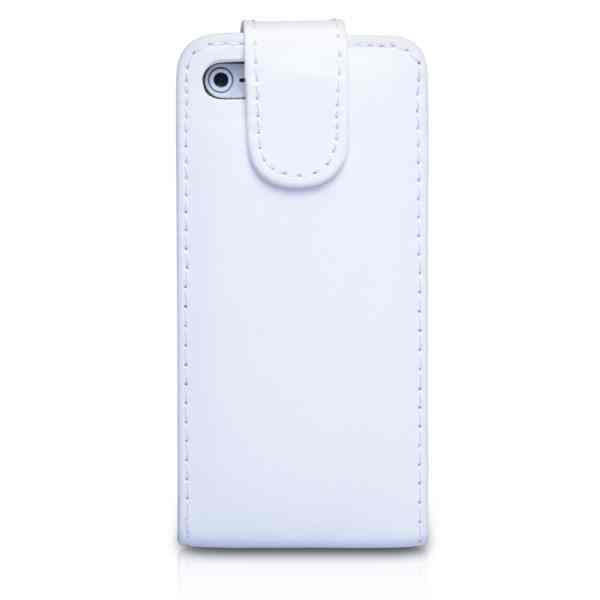 Funda Iphone 5 Tipo Libro Blanca
