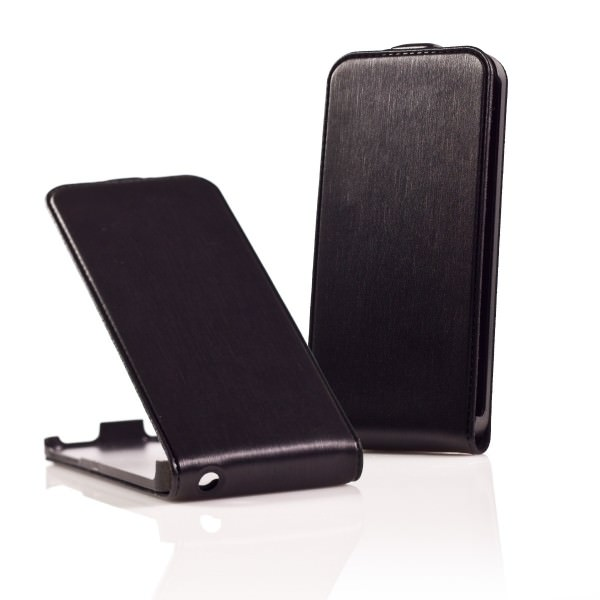 Funda Iphone 5 Tipo Libro Negra
