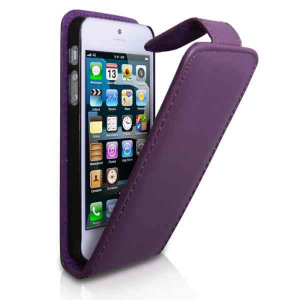 Funda Iphone 5 Tipo Libro Purpura