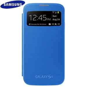 Funda Sam Galaxy S4 S View Azul Claro