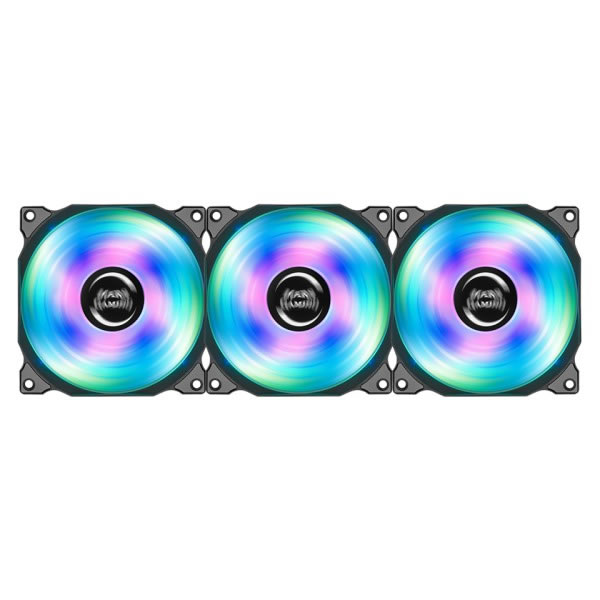 Ver KIT DE 3 VENTILADORES MARS GAMING RGB 120MM