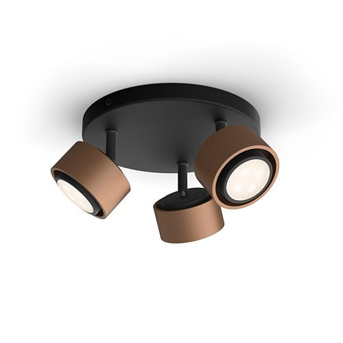 LAMPARA TECHO PHILIPS FERANO SPIRAL COPPER 3X4 3W