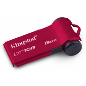 Pen Drive 8gb Kingston Usb Datatraveller 108 Rojo
