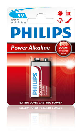 Power Alkaline Bateria 9v