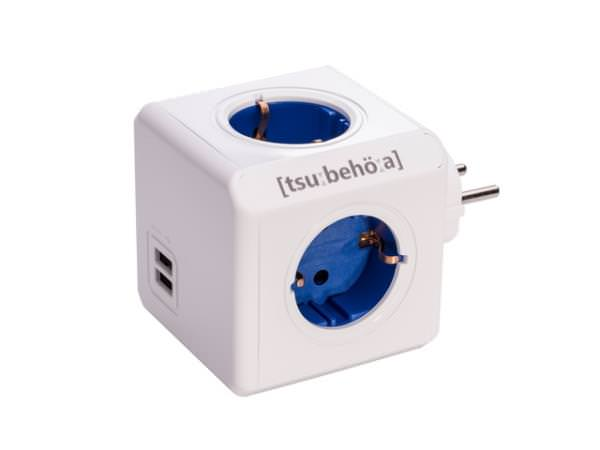 Ver REGLETA POWERCUBE SOCKET USB 230V BLUE RED