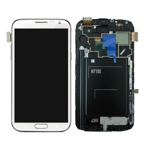 Repuesto Samgalaxy Note 2 Lcd Touch Frame Blanco