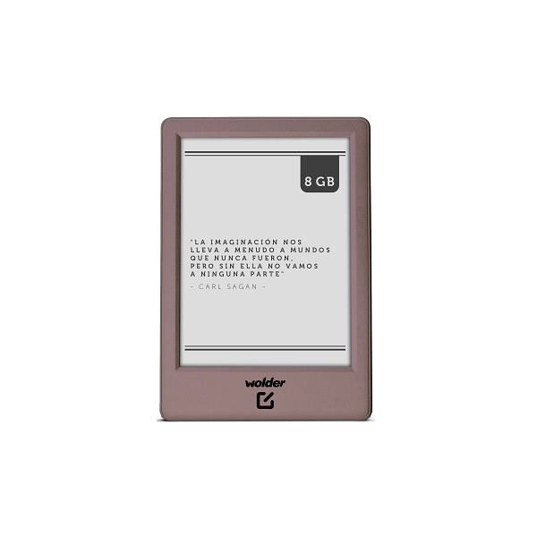 Ver WOLDER MIBUK MIRAGE 6 8GB E INK LUZ FRONTAL ROSA