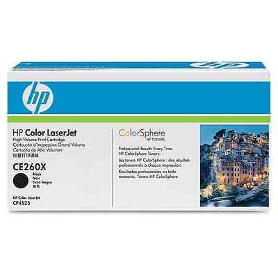 Ver Cartucho de impresion negro HP Color LaserJet CE260X