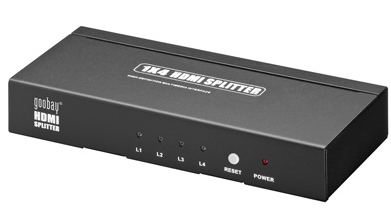 Ver ADAPTADOR VIDEO HDMI SPLITTER HDMI X4 GOOBAY