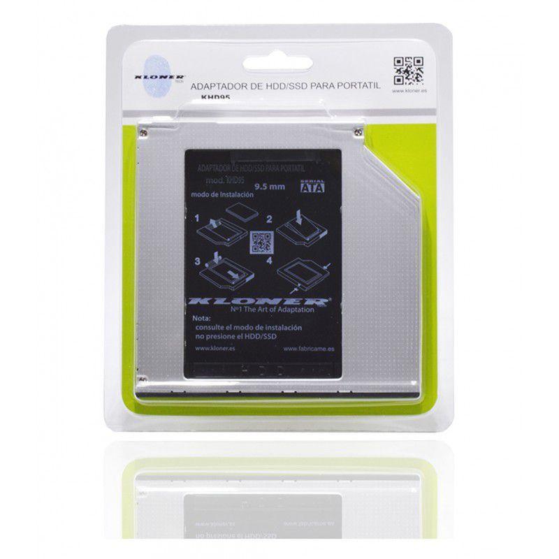 Ver ADAPTADOR BAHIA RW PORTATIL A SSD 2 5 KLTECH 95mm