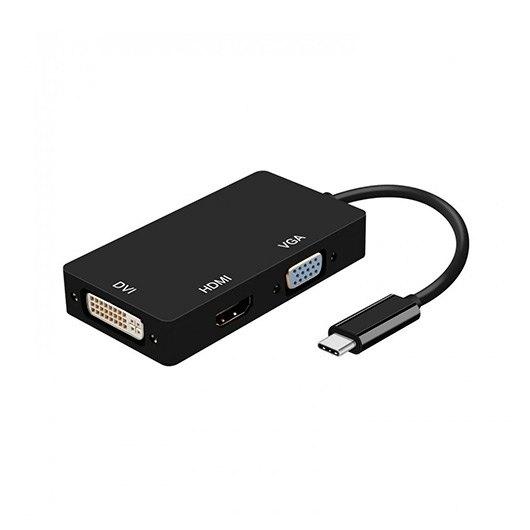 ADAPTADOR USB C A DVIHDMIVGA AISENS NEGRO