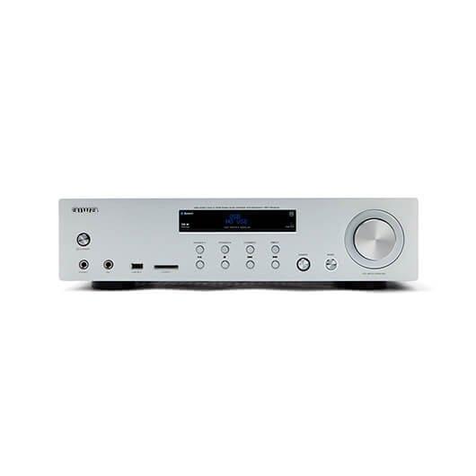 Amplificador Aiwa Amu 120bt Plata 2xcanaleschasis Metal2x