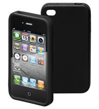 Apple Carcasa Iphone 4 Silicona Negra