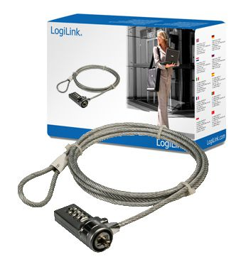 Ver CABLE SEGURIDAD PORTATIL LOGILINK PC LOCK 15M