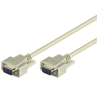 Cable Vga M-m 3m Db15 Monitor Beige