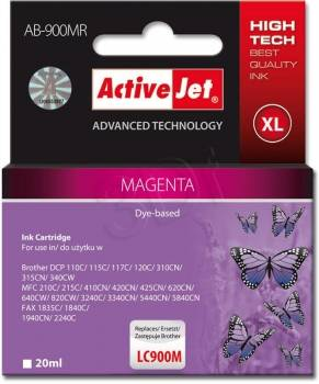 Ver CARTUCHO COMP ACTIVEJET BROTHER LC900 MAGENTA