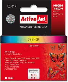 Ver CARTUCHO COMP ACTIVEJET CANON CL 4151 COLOR