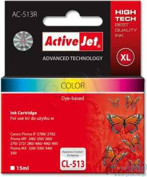 Ver CARTUCHO COMP ACTIVEJET CANON CL 513 COLOR