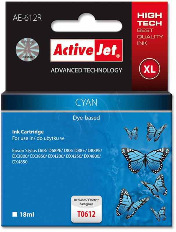 Cartucho Comp Activejet Epson T0612 Cyan