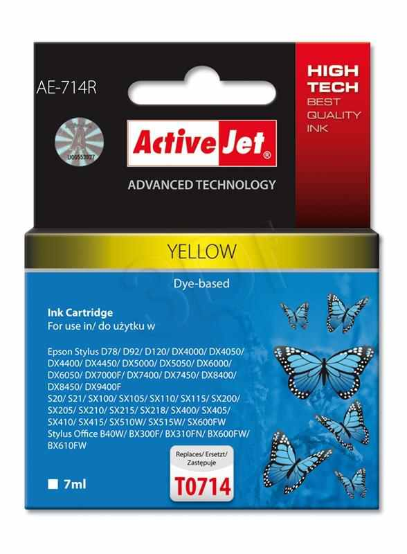 Cartucho Comp Activejet Epson T0714 Amarillo