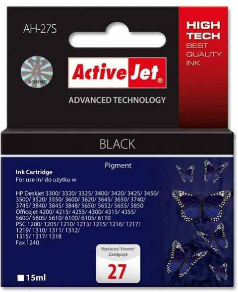 Compatible Activejet Hp N 27 Negro Ah 27s