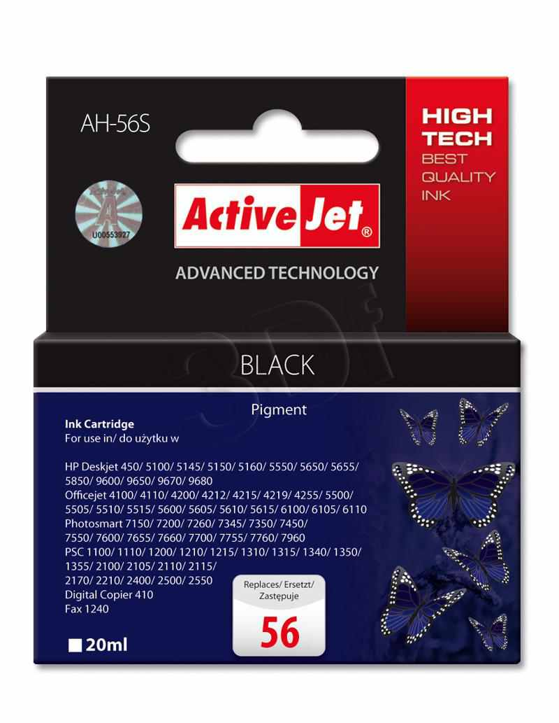 Compatible Activejet Hp N 56 Negro Ah 56s