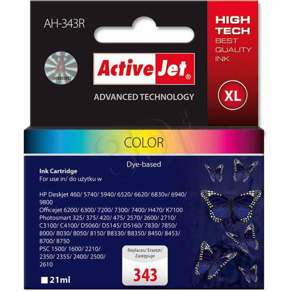 Cartucho Comp Activejet Hp N343 Color