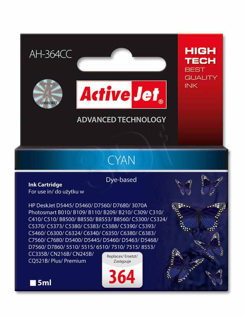 Ver CARTUCHO COMP ACTIVEJET HP N364 CYAN