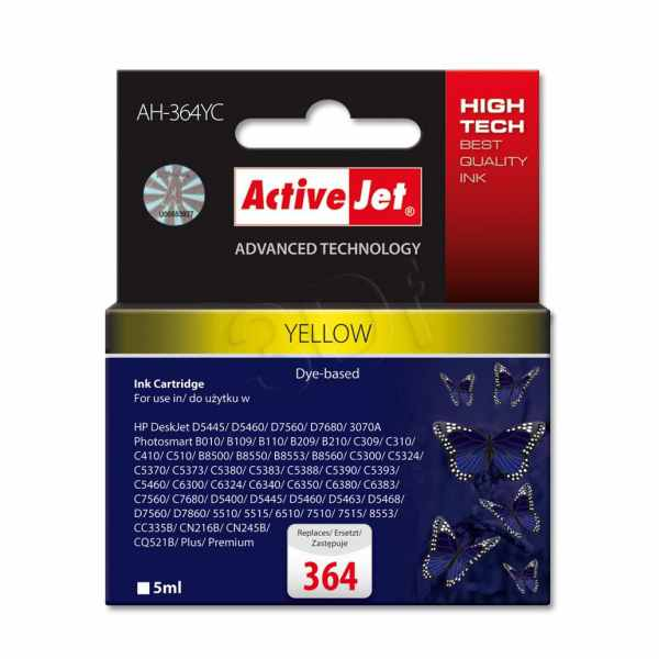 Ver CARTUCHO COMP ACTIVEJET HP N364 YELLOW