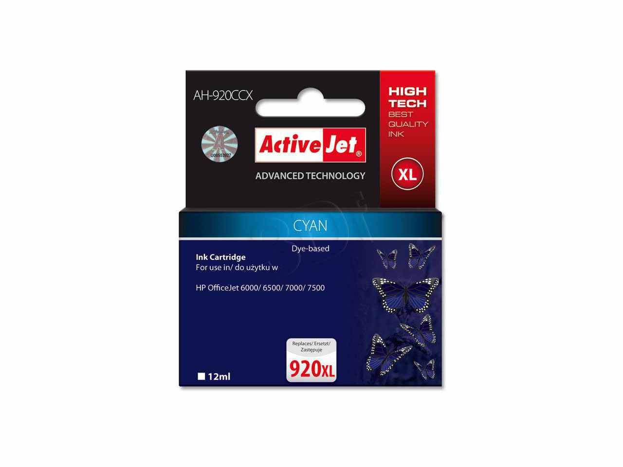 Ver CARTUCHO COMP ACTIVEJET HP N920XL CD972AE CYAN