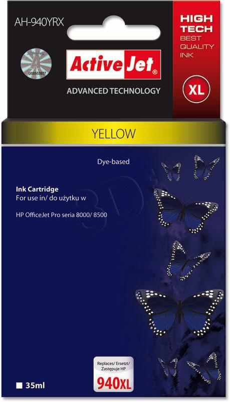 Ver CARTUCHO COMP ACTIVEJET HP N940XL C4909AE YELLOW