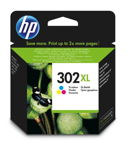 HP N 302 MAGENTA CIAN AMARILLO F6U67AE